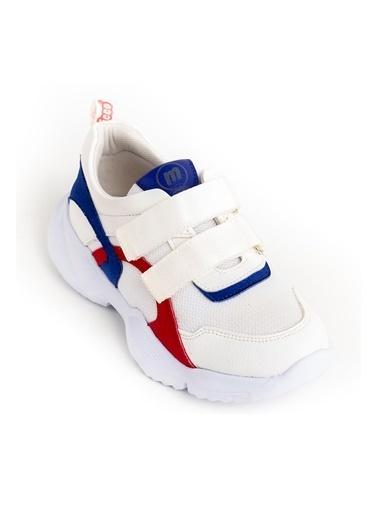 minipicco Erkek Cocuk Ortopedik Destekli Çocuk Spor Ayakkabı Beyaz